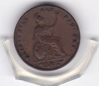 1836 King William Iv Farthing (1/4d) British Coin photo