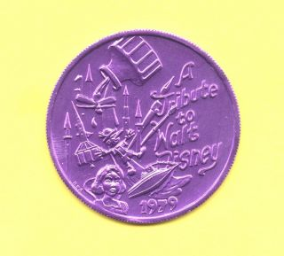 Walt Disney Tribute Token 1979 Okeanos Doubloon - Comic Cartoon Coin photo