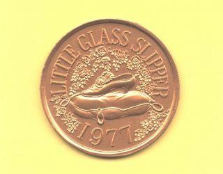 Disney ' S Cinderella Token 1977 Babylon Doubloon - Glass Slipper Coin photo