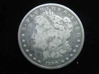 1890 Cc Carson City Morgan 90 Silver Dollar In Circulated Key Date photo