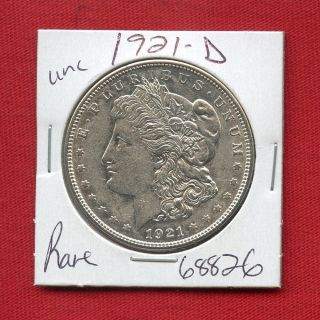 1921 D Morgan Silver Dollar 68826 Brilliant Uncirculated Ms,  State Estate photo