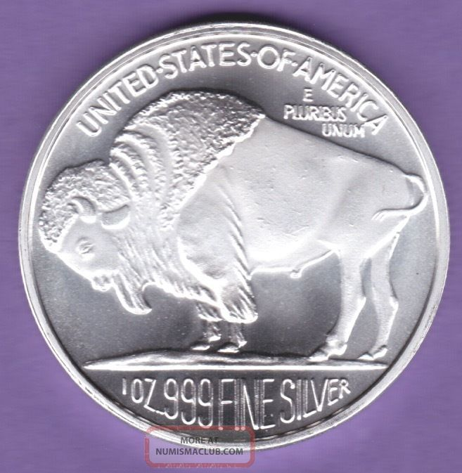 Silver Buffalo Indian Head Silver Round 1oz 999 Fine