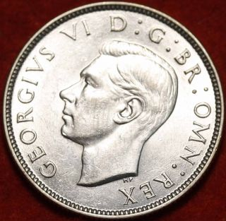 Uncirculated 1944 Great Britain Shilling Silver Foreign Coin S/h photo