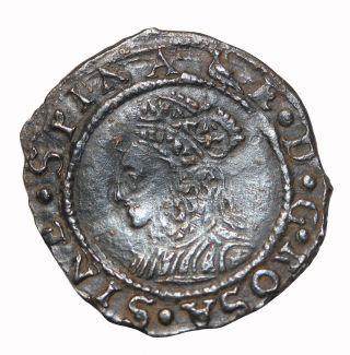 Great Britain Elizabeth I 1560 - 1561 Ad Silver Penny Medieval Coin S.  2558 photo
