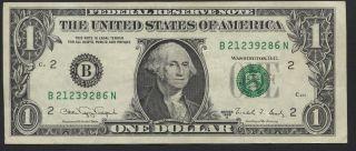 United States 1 Dollar 1988a Fr 1915b York Circulated Banknote 353 photo