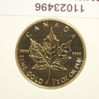 1998 Canada $20 1/2 Oz.  9999 Gold Maple Leaf photo