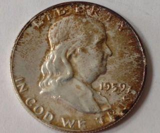 1959 - D Franklin Half Dollar,  Probable Xf photo