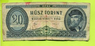 Hungary Hungarian 20 Forint 1980 G Banknote photo