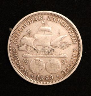 1893 Columbus Exposition Commemorative Silver Half Dollar photo