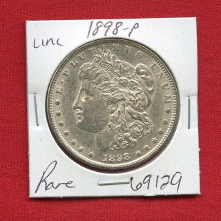 1898 Morgan Us Silver Dollar 69129 Brilliant Uncirculated Ms,  State Estate photo