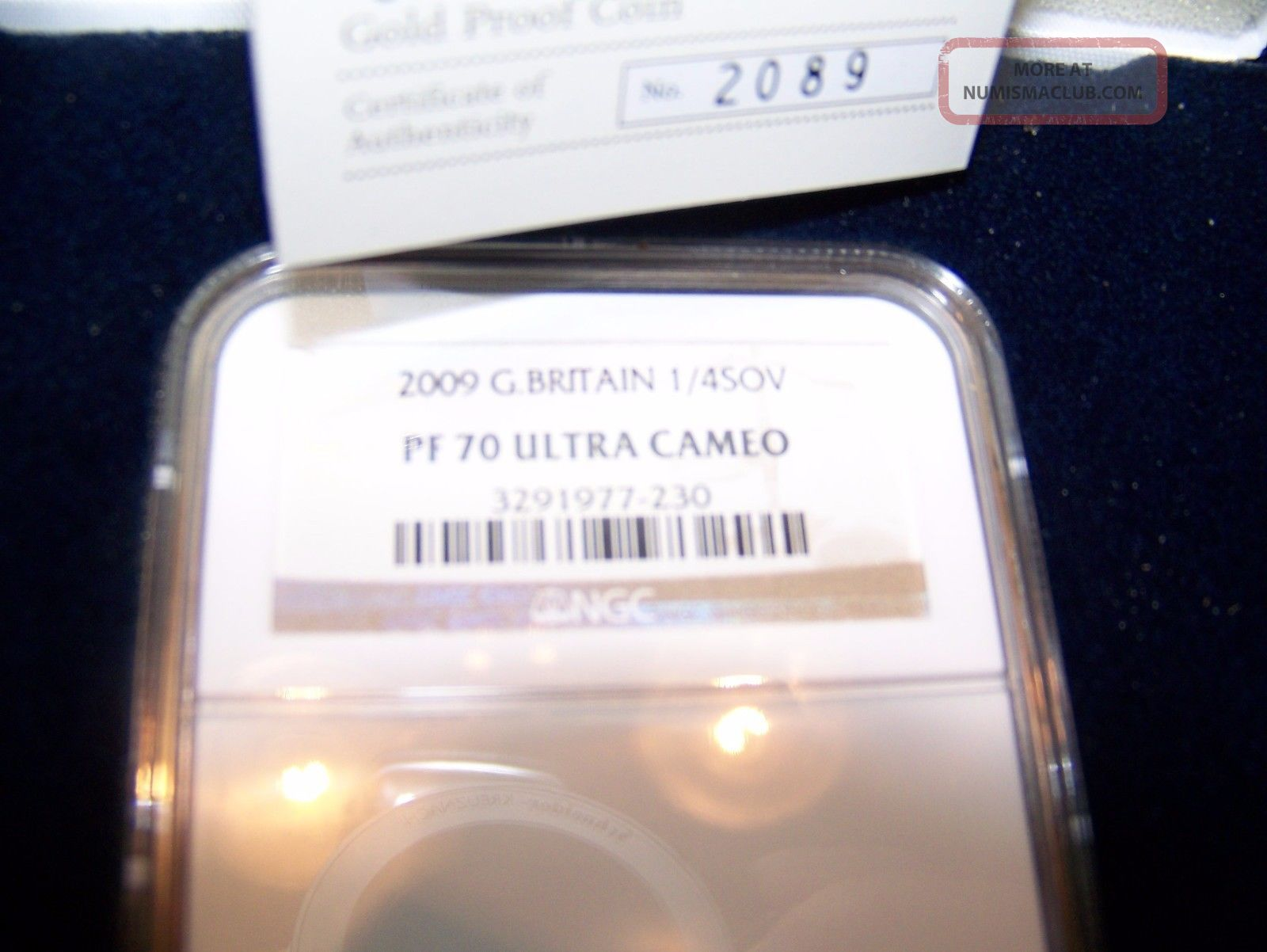 2009 Great Britain 1/4 Sovereign Gold Coin,  Ngc Pf 70 Ultra Cameo Royal UK (Great Britain) photo