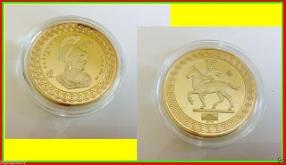 Alexander Iii Of Macedon / Alexander The Great_gold Plated Collectable.  C Of A photo