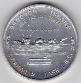 1972 Ogopogo Island Bc Trade Dollar photo