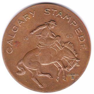 1963 Calgary Stampede Trade Dollar photo
