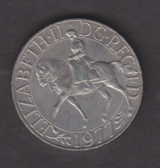 1977 British Qeii Silver Jubilee Commemorative Crown. photo