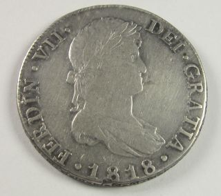Guatemala 8 Reales,  1818,  Circulated/ Uncertified photo