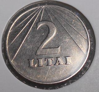 Lithuania 2 Litai Copper - Nickel Coin 1991 Circulated photo
