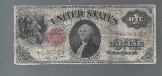 Large 1917 $1 One Dollar Bill Big United States Legal Tender Red Seal Note Money photo