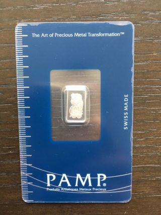 Pamp Suisse Palladium 1 Gram Bar photo