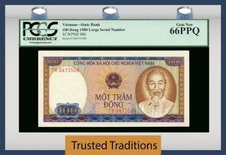 Tt Pk 88b 1980 Viet Nam State Bank 100 Dong