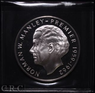 1973 Jamaica $10 Silver Proof Km 59 Norman Manley photo