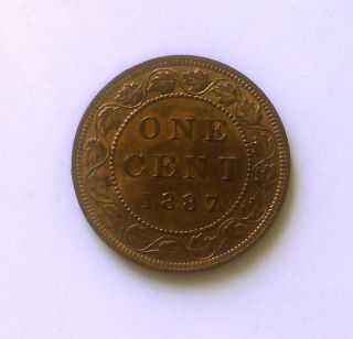 1887 Canadian Large Cent S&h To Canada And U.  S photo