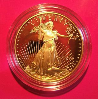 1995 - W Us $50 Eagle 1oz Pure Gold Proof Coin photo