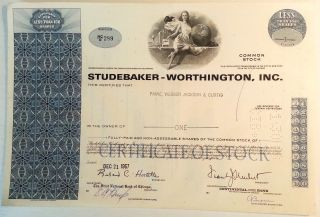 Studebaker - Worthington Inc.  Less Than 100 Shares Blue photo