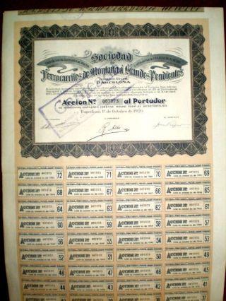 Ferrocarriles De Montaña A Grandes Pendientes Share 1926 photo