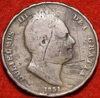 1831 Great Britain Penny Foreign Coin S/h photo