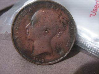 1854 English Penny photo