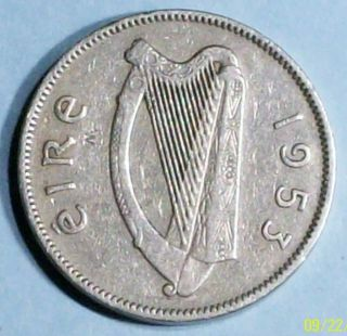 Ireland 6 Pence 1953 Very Fine Copper Nickel Coin photo
