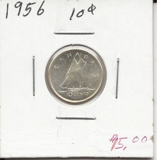 1956 Canadian Dime photo