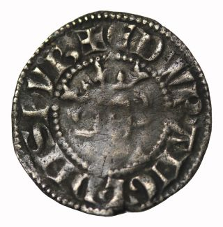 Edward I Ar Penny Durham Eme Dvr S.  1422 Hammered Medieval Coin photo