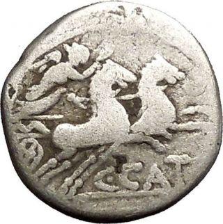 Roman Republic Rome 123bc Cato The Censor Grandson Victory Silver Coin I52491 photo