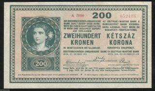G890 Austria Hungary 200 Korona 1918 Pick 24 photo