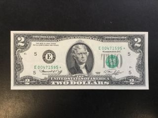 1976 Federal Reserve Note - 2 Dollars Star Note photo