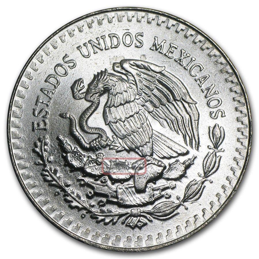1986 1 oz Mexican Silver Libertad Coin BU