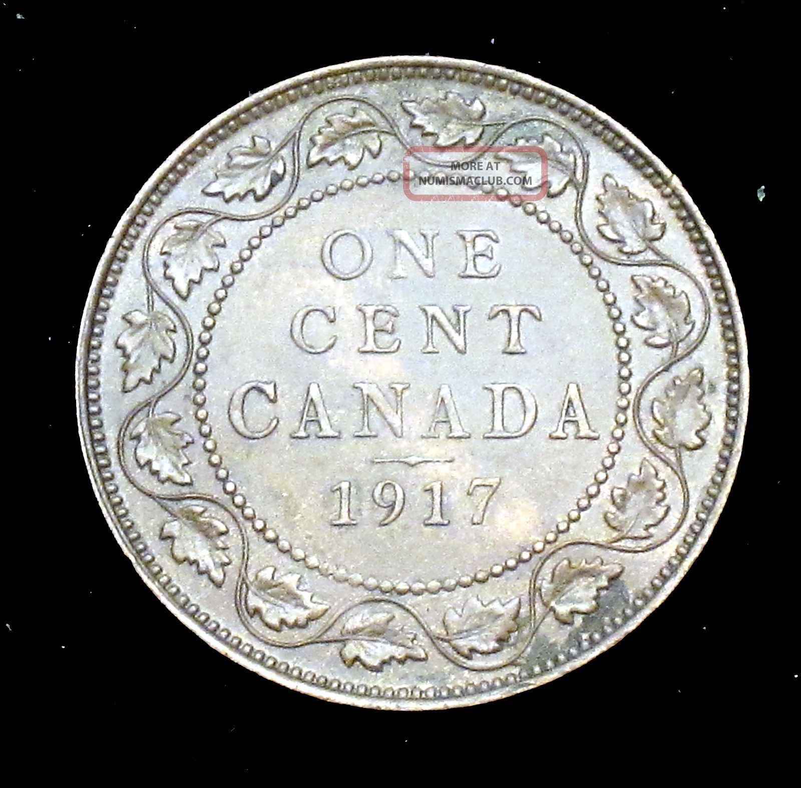 1917 Choice About Uncirculated (au, ) Canada Large Cent - Cc180 Coins: Canada photo