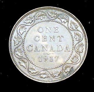 1917 Choice About Uncirculated (au, ) Canada Large Cent - Cc180 photo