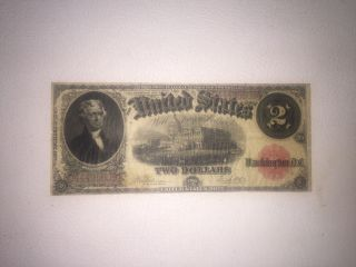 $2 United States Note Series Of 1917 Speelman & White In Fine Cond. photo