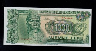 Albania 1000 Leke 1992 Pick 54 Unc Banknote. photo