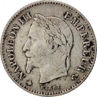 [ 99100] France,  Napoleon Iii,  20 Centimes,  1867,  Paris,  Km:808.  1 photo