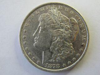 1878 P Morgan Silver Dollar Fine Details Au (351) photo