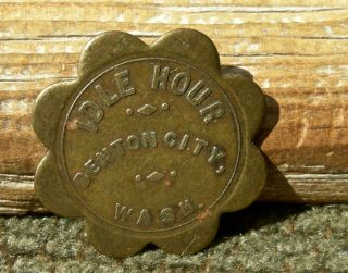 Ca 1900 Benton City Washington Wa (a Higher Rarity Town) Scal Brass Bar Token photo