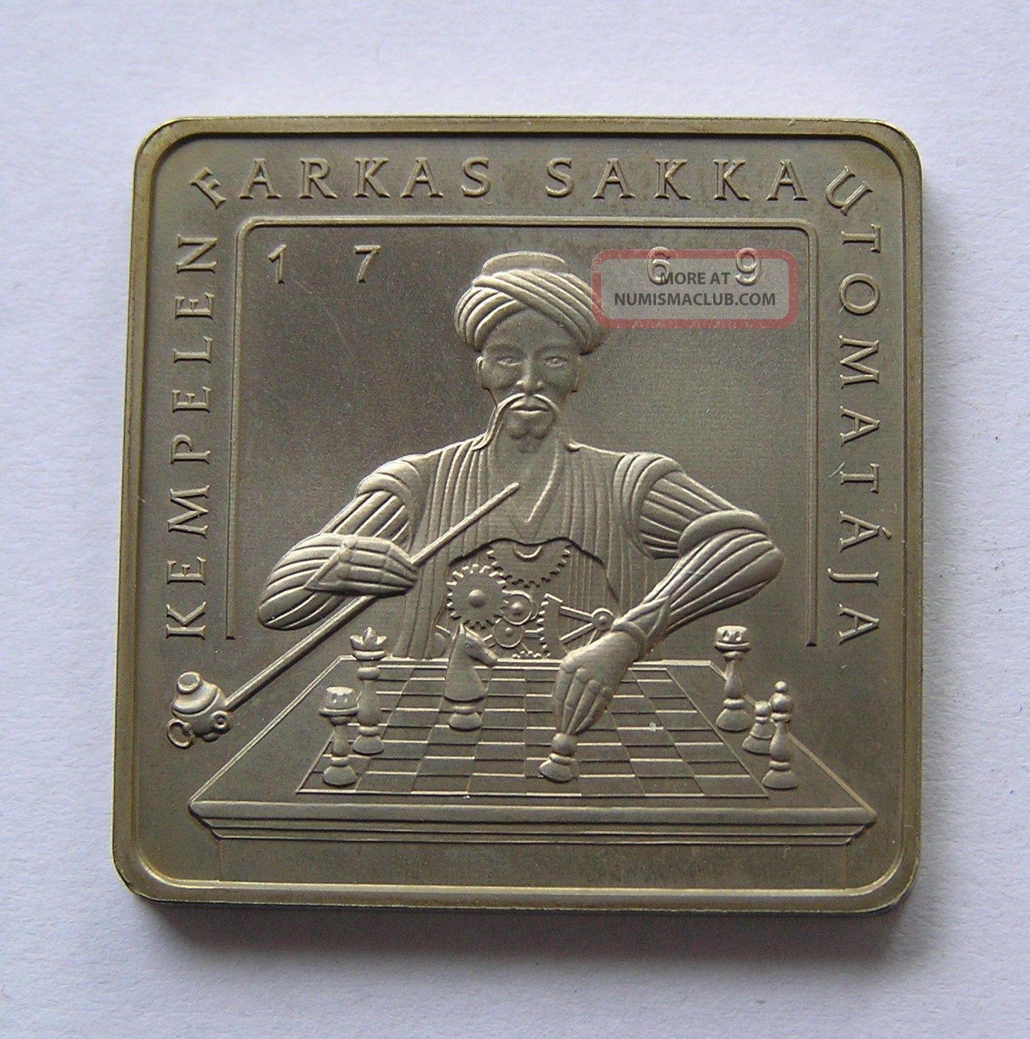 Hungary 500 Forint 2002 Kempelen ' S Chess Machine.  Mintage 5000. Europe photo