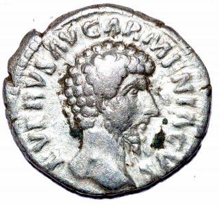 Authentic Lucius Verus,  Ar Silver Denarius,  Roman Coin,  Rv.  Armenia Capta - C260 photo