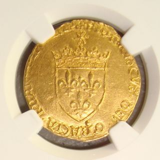 1515 - 47 Francois I,  France Gold Ecu D ' Or Au Soleil Ngc Ms62 photo