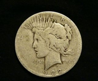 1922 - D Peace Silver Dollar Coin photo