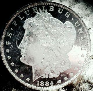 1884 O Morgan Dollar Cameo Ultra Dmpl Gem Bu Unc Ms Monster Dpl photo